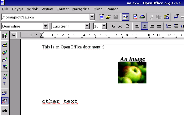 OOfice file example screen