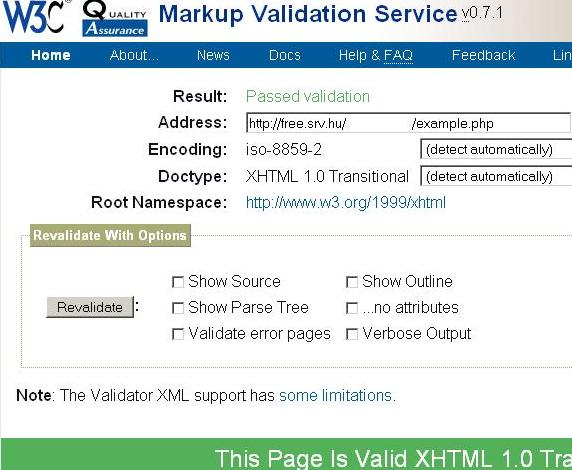 Passed validation (http://validator.w3.org/)