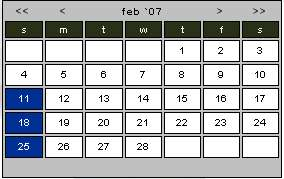ML_Calendar display with cal_size setting set to small