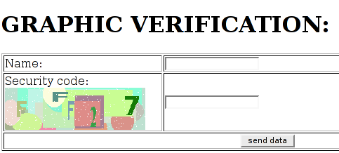 Screenshot of the image verification