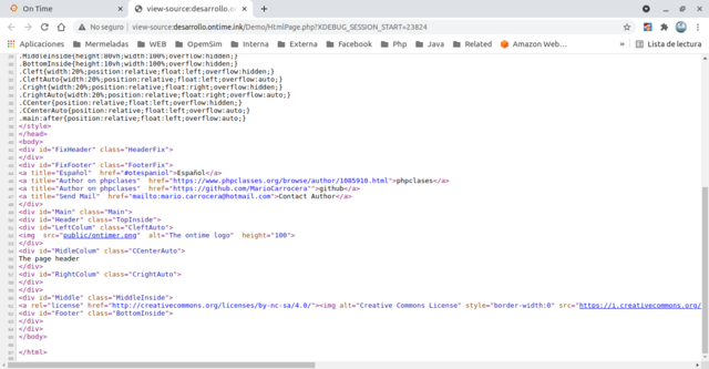 Html Image and text source code