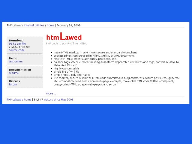 htmLawed homepage