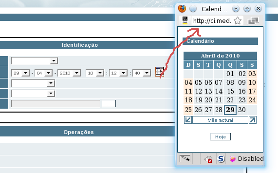 using calendar picker