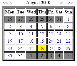 Example how calendar looks