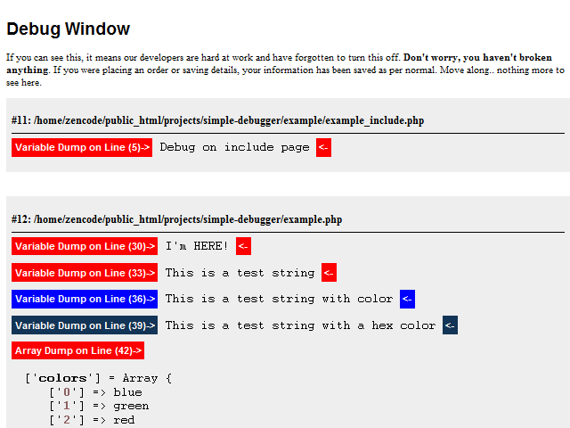 Easy Debugger Screenshot