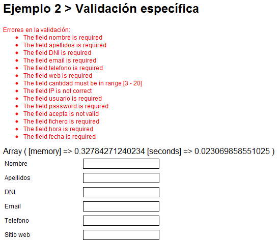 Result after validating (in English)