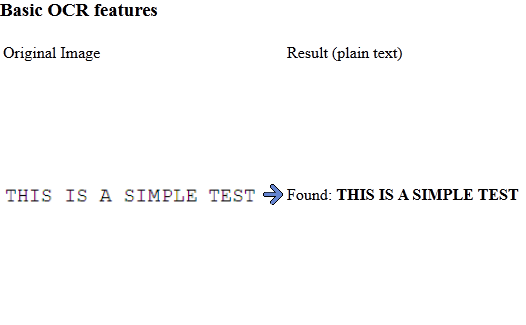 OCR - Basic text recognition example.