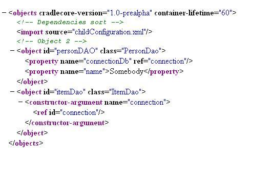 Xml configuration and import tag