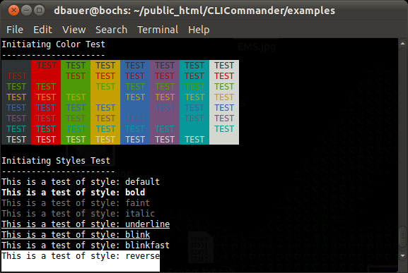 ANSI Color Output