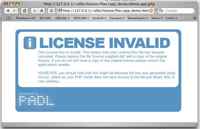 License Invalid